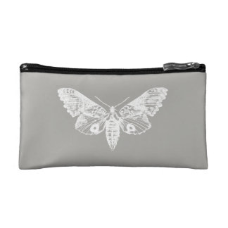 Grey Moth Cosmetic Bag