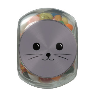 Grey Mouse Cute Animal Face Design