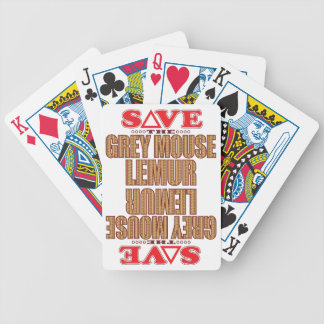 Grey Mouse Lemur Save Bicycle Playing Cards