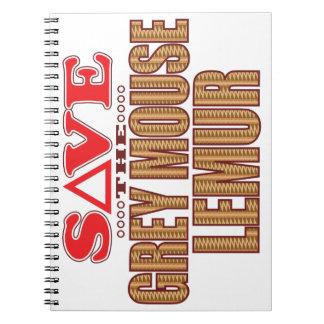 Grey Mouse Lemur Save Spiral Notebooks