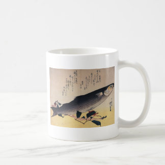 Grey mullet and camellia by Hiroshige Coffee Mug