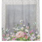 Grey n White Farmhouse Country Chic Floral Peonies