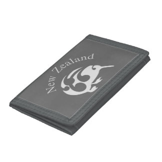 Grey New Zealand Kiwi wallet