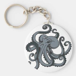 Grey Octopus Keychain
