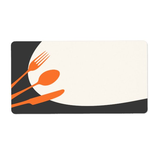 Grey orange blank modern canning baking kitchen shipping label