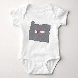 Grey OREGON Home & Open Heart Baby Bodysuit