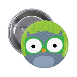 Grey Owl - Woodland Friends 2 Inch Round Button