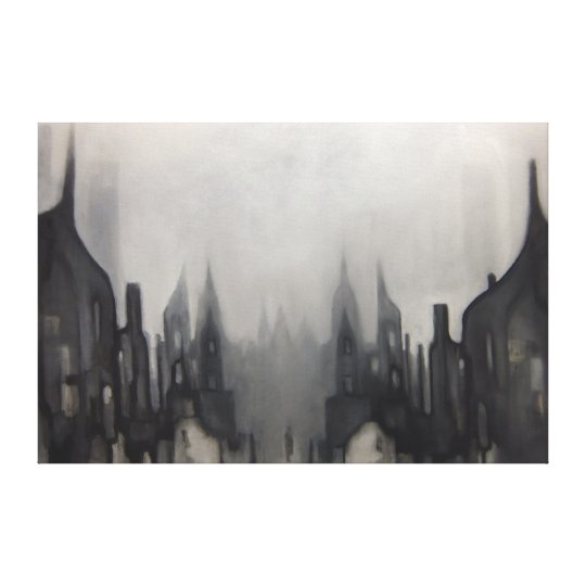 Grey Painting No.2 Canvas Print