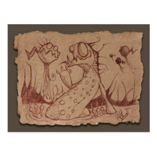 Grey Paper Sketch: Swamp Thing Postcard