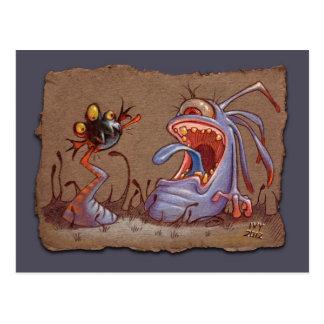 Grey Paper Sketch: Tail Biter Postcard