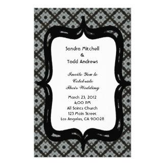 Grey Pattern Wedding Stationery Design