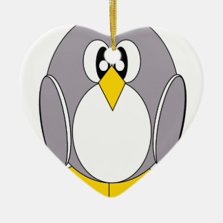 Grey Penguin Christmas Ornaments