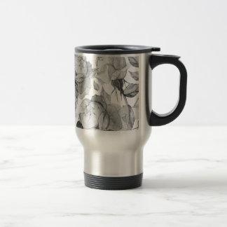 grey peony travel mug