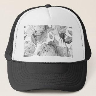 grey peony trucker hat