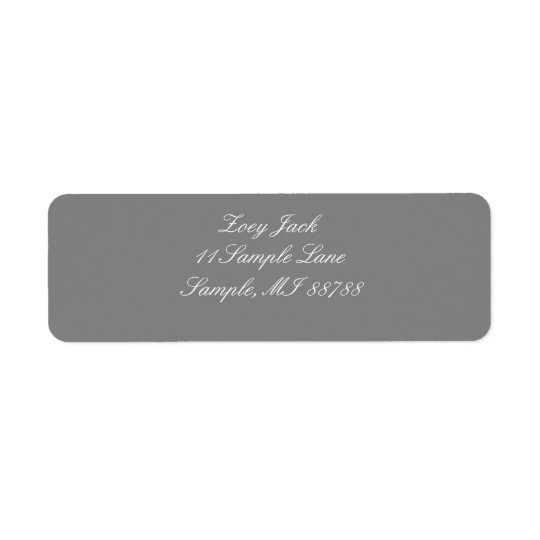Grey Personalized Address Labels