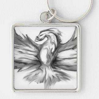 Grey Phoenix Keychain