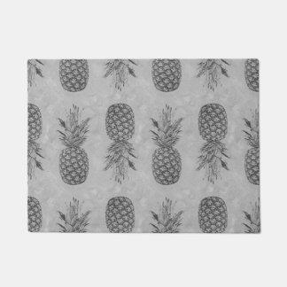 Grey Pineapple Pattern Doormats