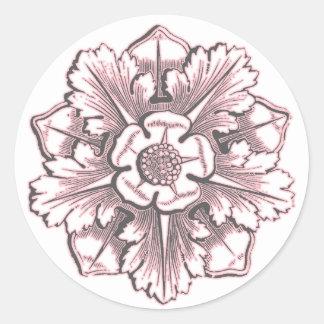 Grey & Pink Cathedral Flourish Sticker