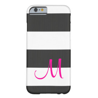 Grey Pink Textured Stripes iPhone 6 Case, Barely Barely There iPhone 6 Case