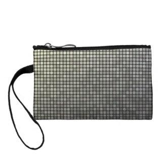Grey pixel pattern coin wallet