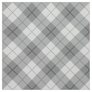 Grey Plaid Fabric