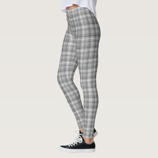 Grey Plaid Leggings