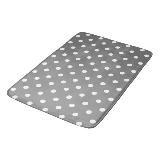 Grey Polka Dot Bath Mat