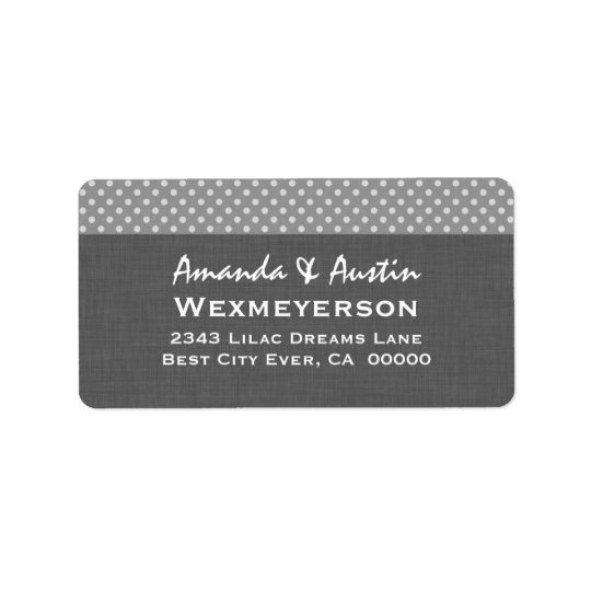 Grey Polka Dot Wedding Collection A2