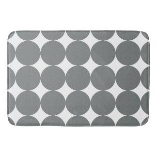 Grey Polka Dots Bath Mat