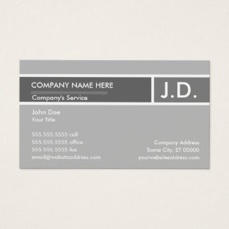 grey professional business card