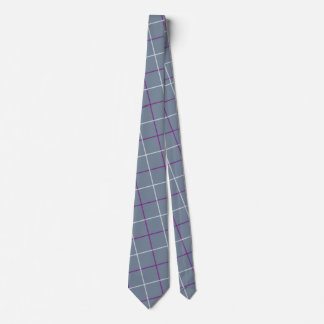 Grey/Purple Plaid tie