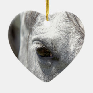Grey Quarter Horse Stallion Ceramic Ornament
