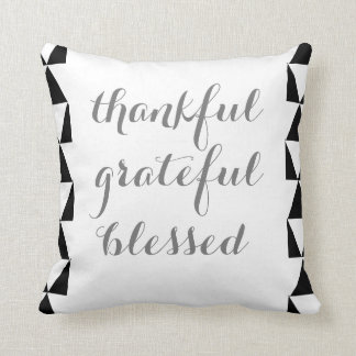 Grey quote- Black and White Pattern- Pillow