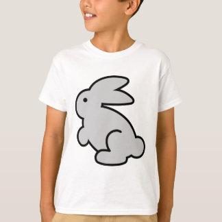 Grey rabbit animated illustration tshirts