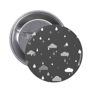 Grey Rains 2 Inch Round Button