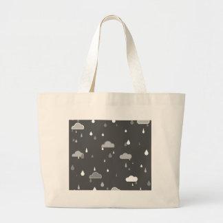 Grey Rains Large Tote Bag