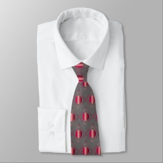 Grey & Red Boxed In Tie