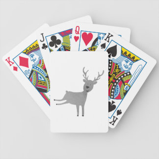Grey Reindeer Illustration Bicycle Playing Cards