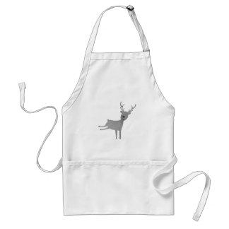 Grey Reindeer Illustration Standard Apron