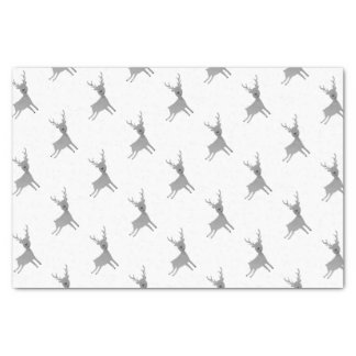 Grey Reindeer Illustration Tissue Paper