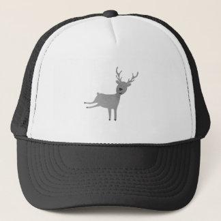 Grey Reindeer Illustration Trucker Hat