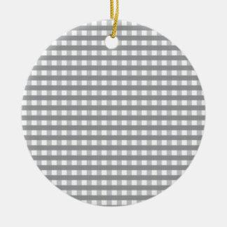 Grey Retro Style Pattern - Weddings Round Ceramic Ornament