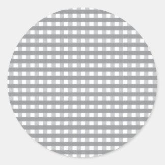 Grey Retro Style Pattern - Weddings Round Sticker
