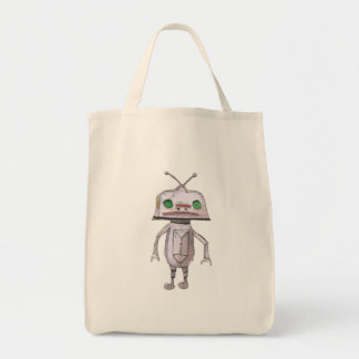 Grey Robot Grocery Tote