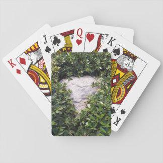 Grey Rock in Green Bush Playing Cards