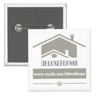 Grey Roof 2 Inch Square Button