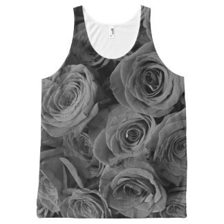 Grey Roses All-Over-Print Tank Top