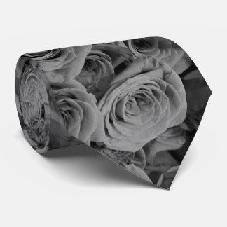 Grey Roses Tie
