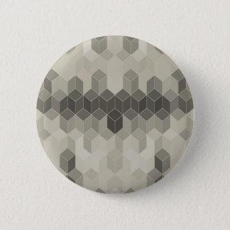 Grey Scale Cube Geometric Design 2 Inch Round Button
