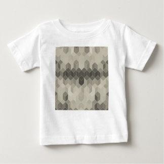 Grey Scale Cube Geometric Design Baby T-Shirt